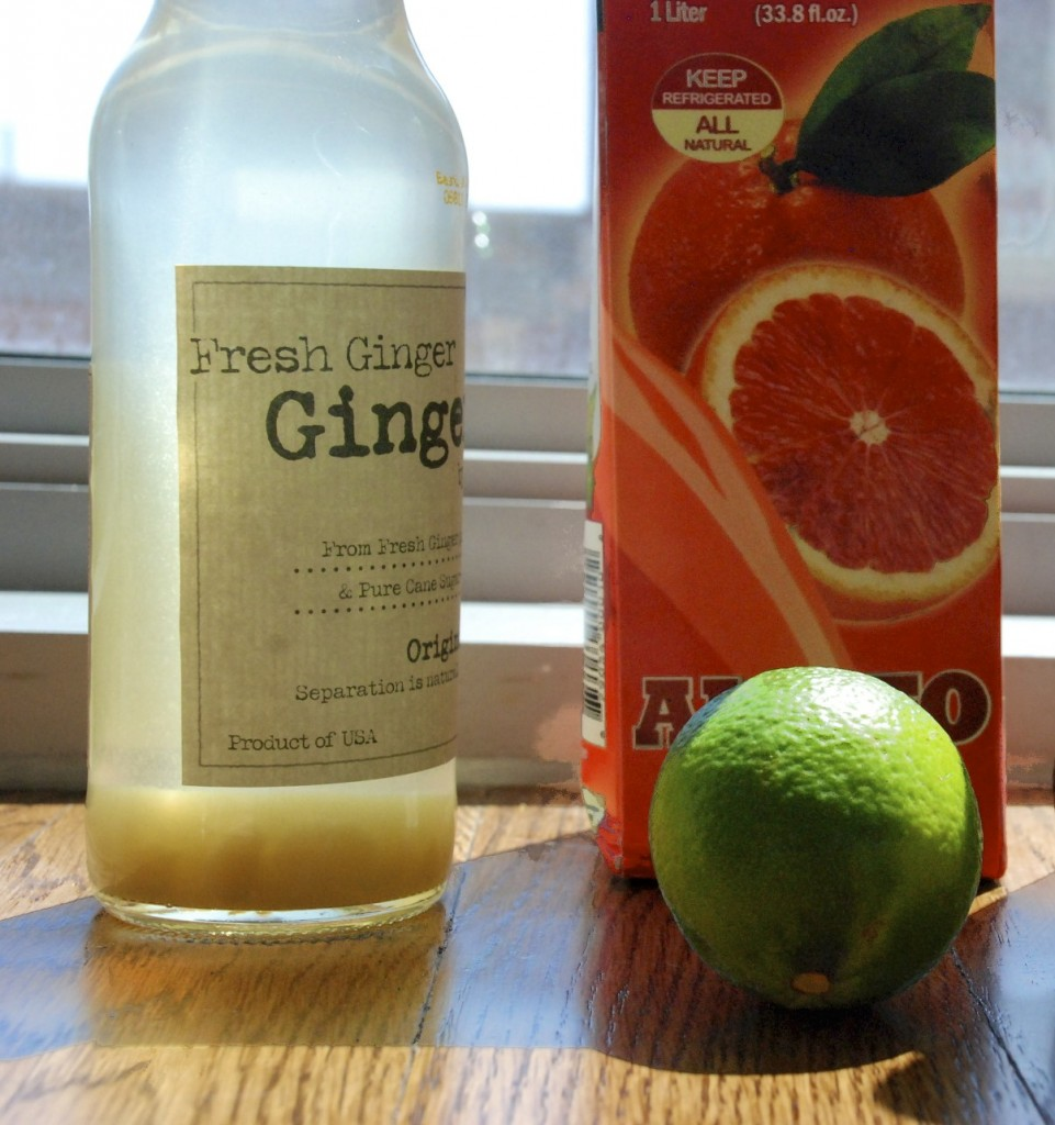 Ginger, orange and lime