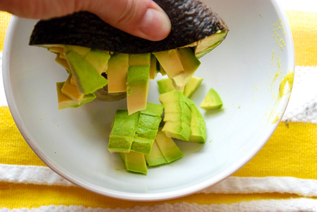 Diced avocado