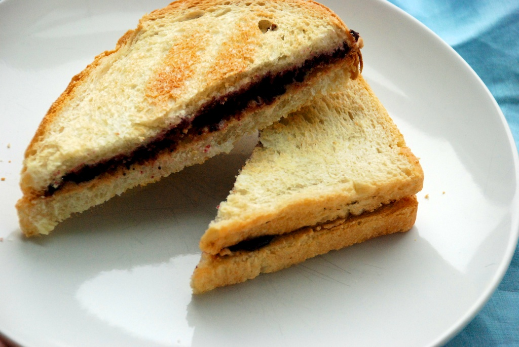 Nut butter and jelly sandwich