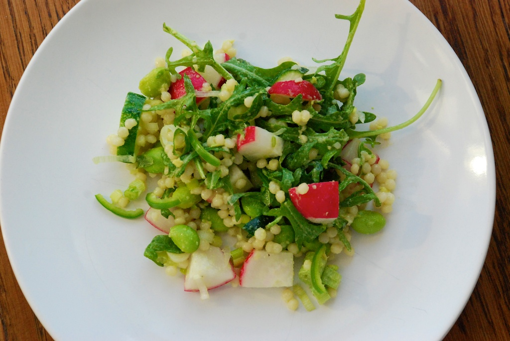Radish and green gem couscous