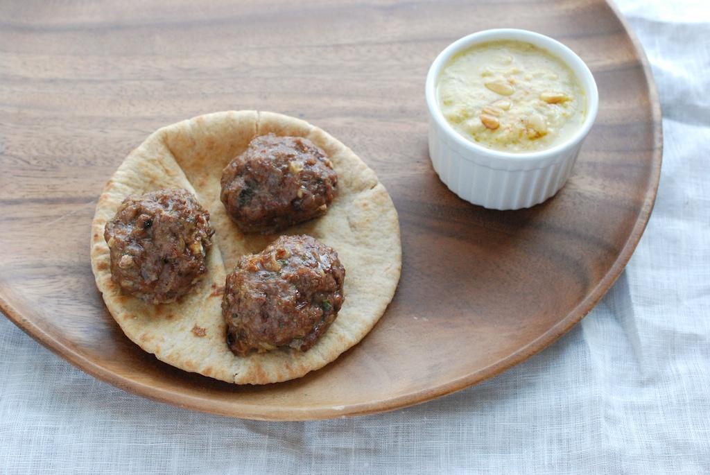 Lamb Meatballs with Fava Hummus