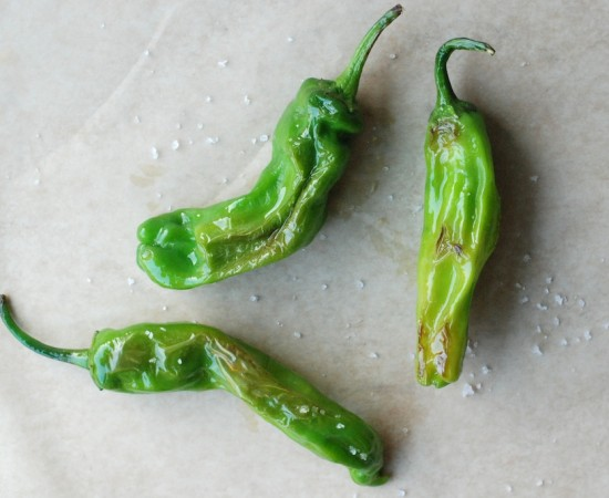 shishito peppers, above, 2
