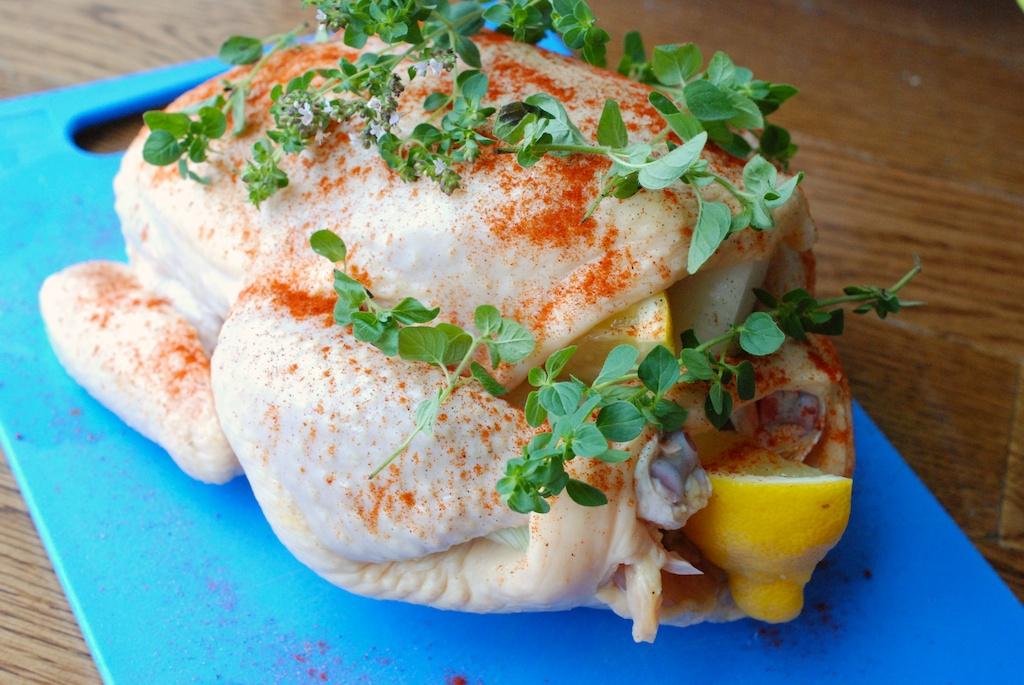 paprika/oregano chicken, from back