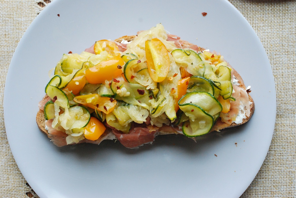 zucchini tartine