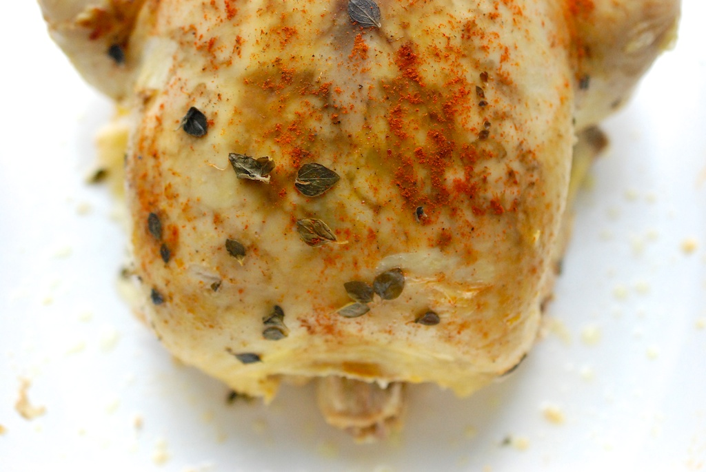 cooked chicken half