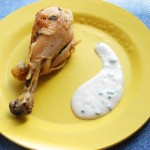 Salt-Crust Chicken with Buttermilk Dressing