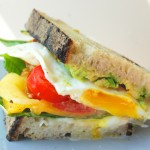 Burrata, Basil, Crispy Egg Sandwich