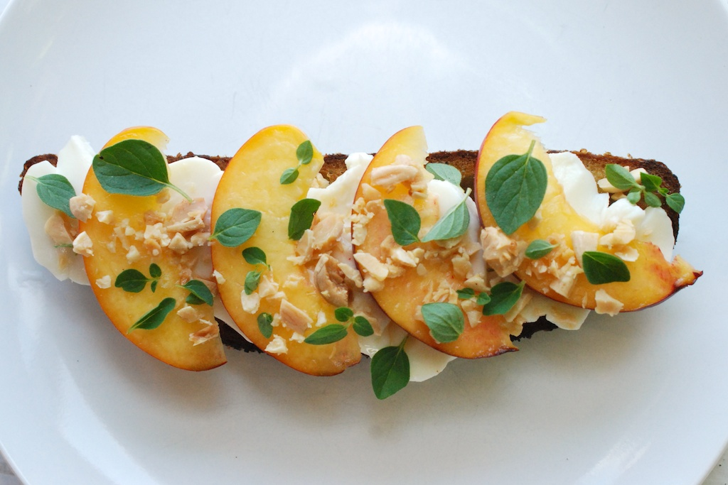 Nectarine toast, flat