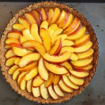 Nectarine Hazelnut Tart