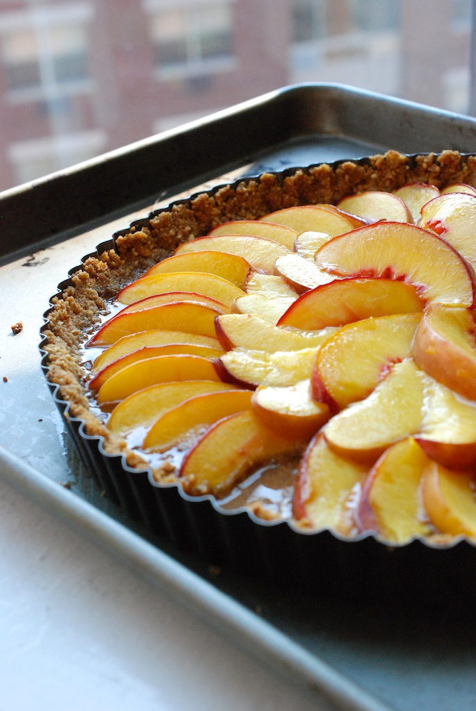 vertical nectarine tart background
