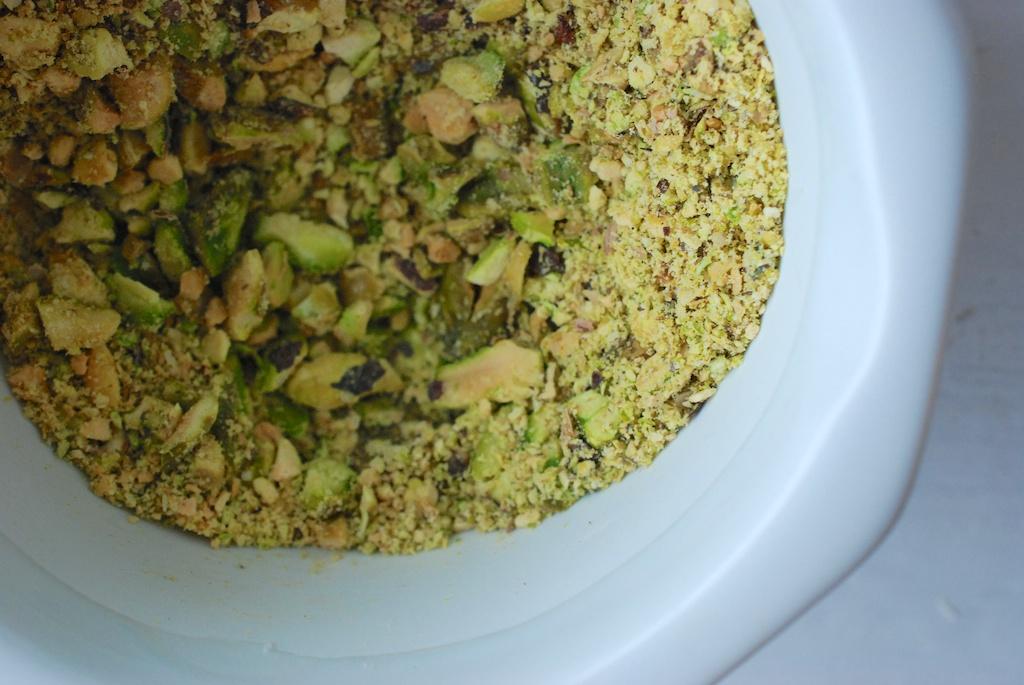 crushed pistachios