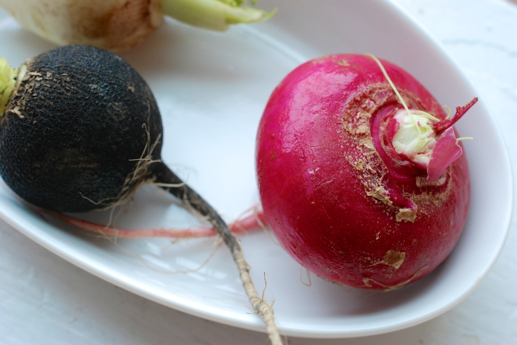 three radish varieties, 2