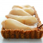 Spiced Pear Chocolate-Caramel Tart