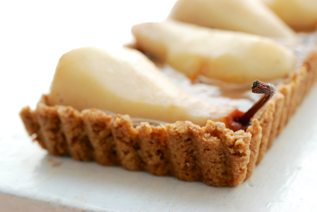 pear tart, angle