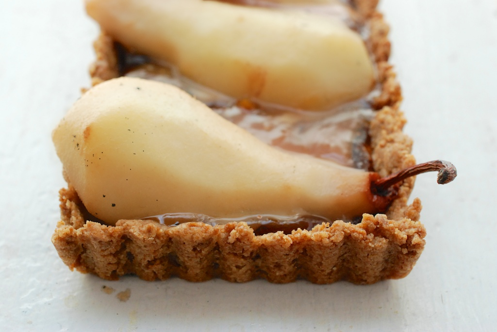 for pear chocolate tart salted caramel pear tarts caramel pear ...