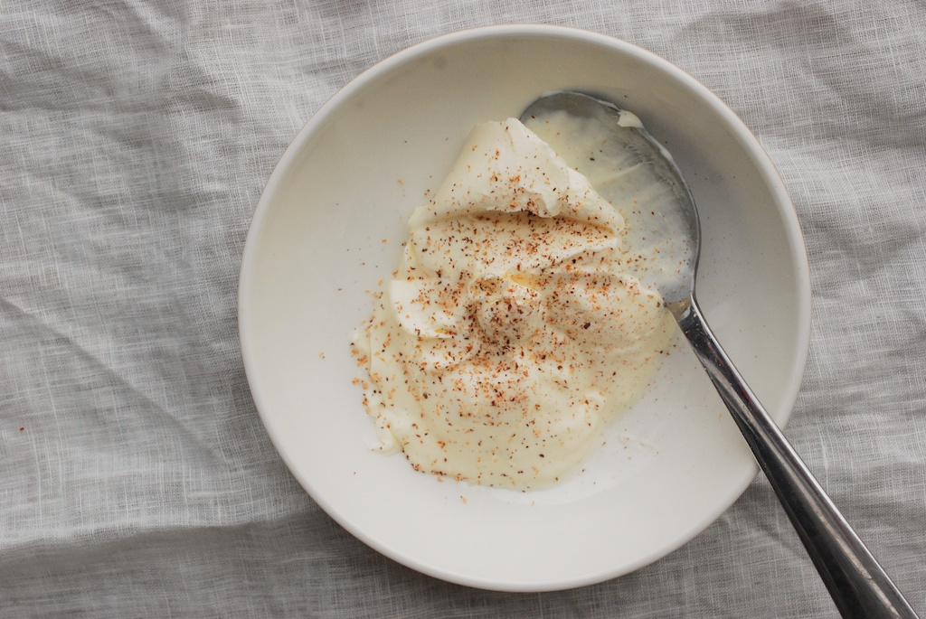 nutmeg and creme fraiche
