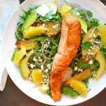 Arugula Salmon Salad with Crisp Fingerlings and Cotija