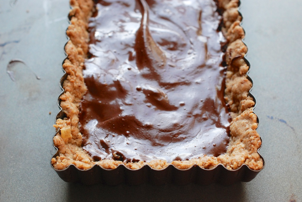 chocolate in ginger crust