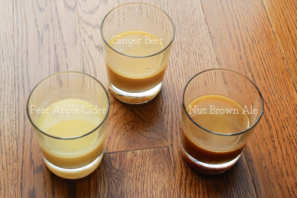 butterbeer: ale, ginger beer, pear apple cider