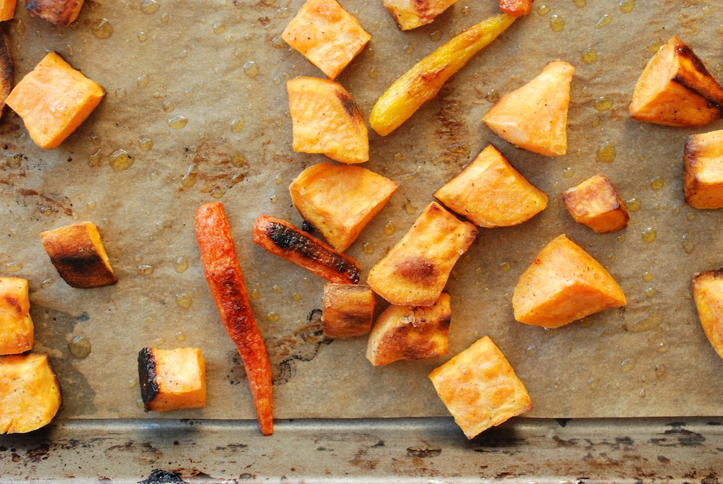 carrots and sweet potato