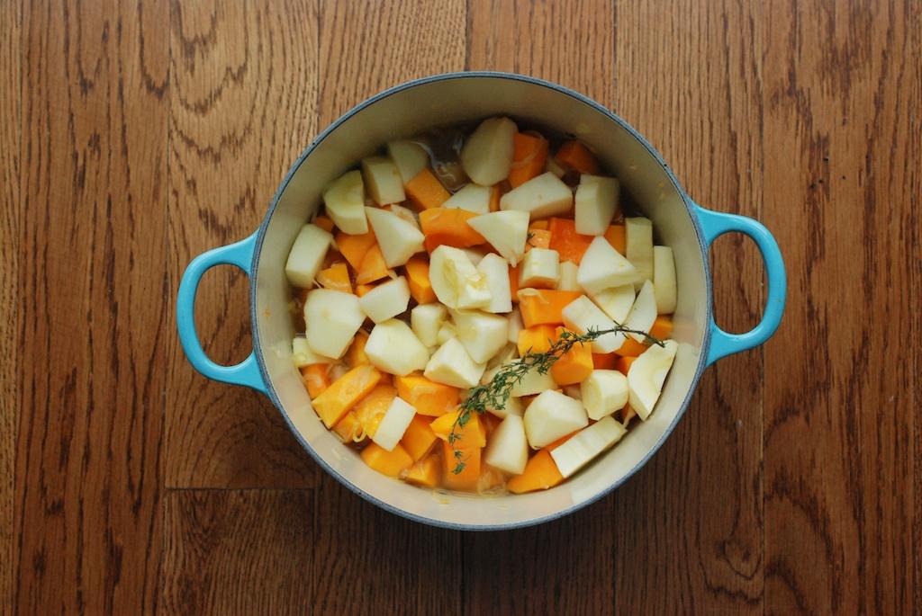 squash, apple, parsnip, thyme