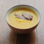 Butternut, Apple, and Parsnip Soup with Smoked Duck