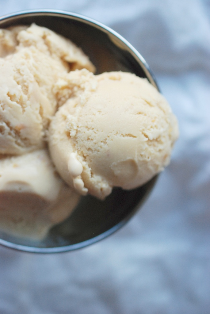 dulce de leche and jam ice cream