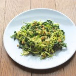 Not-So-Virtuous Kale and Brussels Sprouts Salad