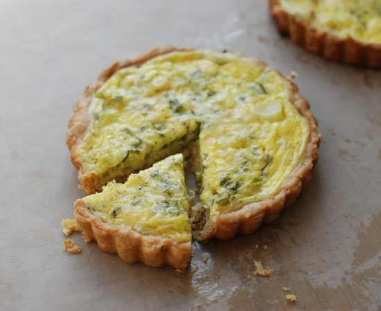 spring onion and herb tart header 1