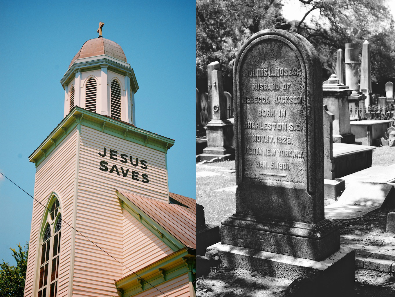 jesus saves/gravestone