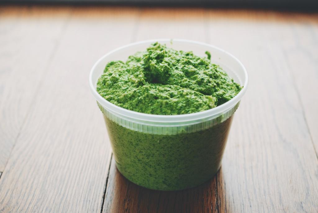 asparagus-spinach pesto