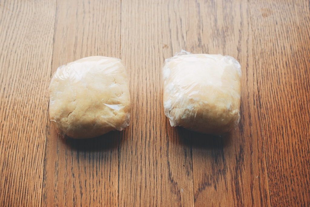 dough, wrapped in plastic