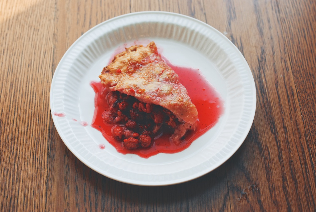 raspberry pie, slice