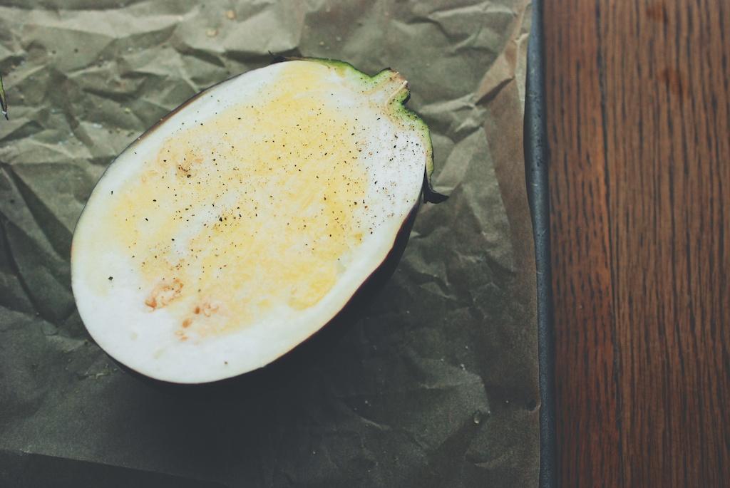 eggplant half