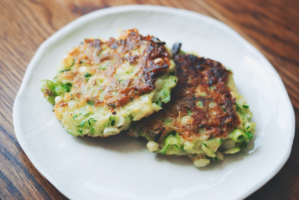 Zucchini-Corn Fritters with Spicy Yogurt Dipping Sauce | The Roaming ...
