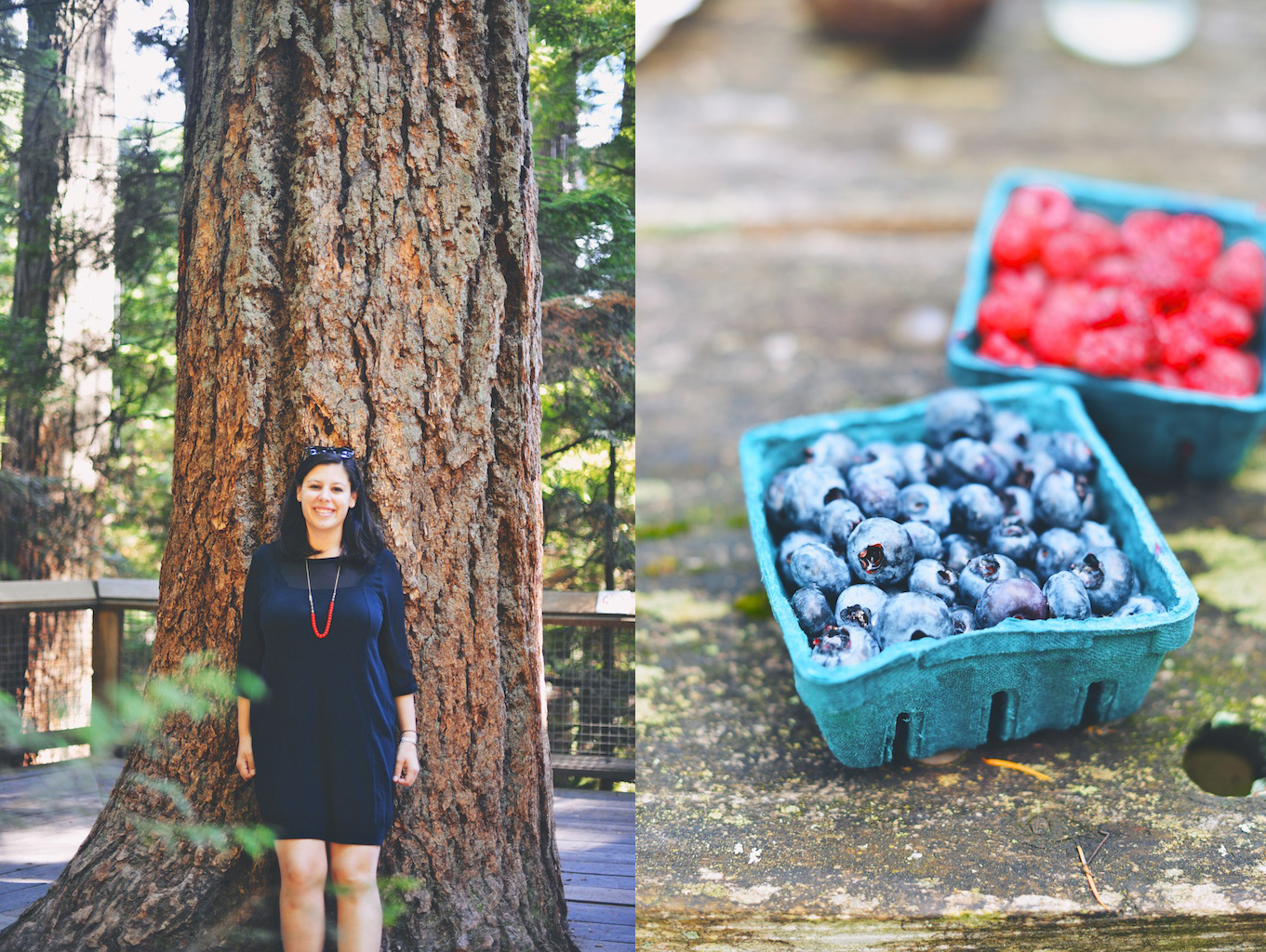 me, and some berries