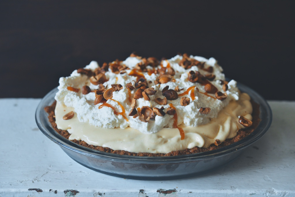 Vanilla Caramel-Apple Cider Ice Cream Pie
