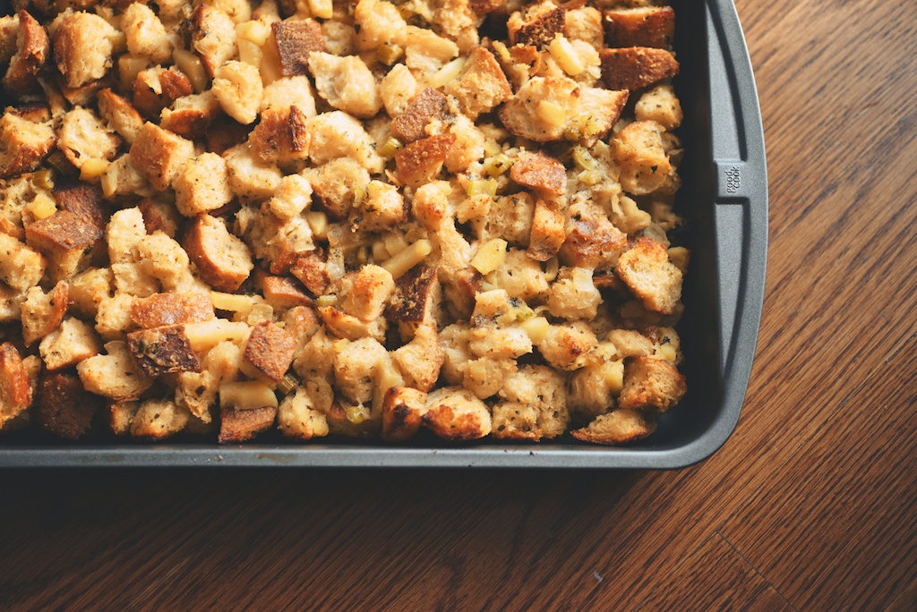 Sourdough Stuffing With Mushrooms, Apples, & Sage Recipe ...