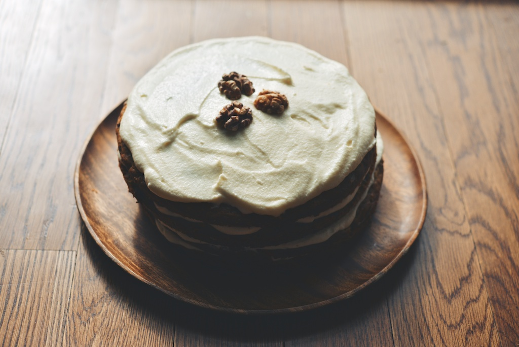 Spice + Citrus Carrot Cake with Swiss Cream Cheese-Mascarpone Frosting