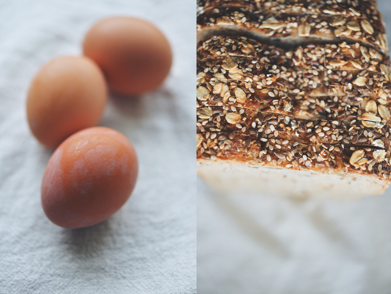 eggs and seed bread