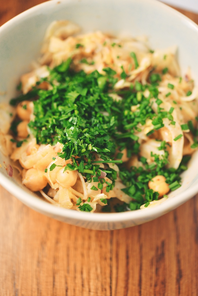 Marinated Fennel + Chickpea Salad