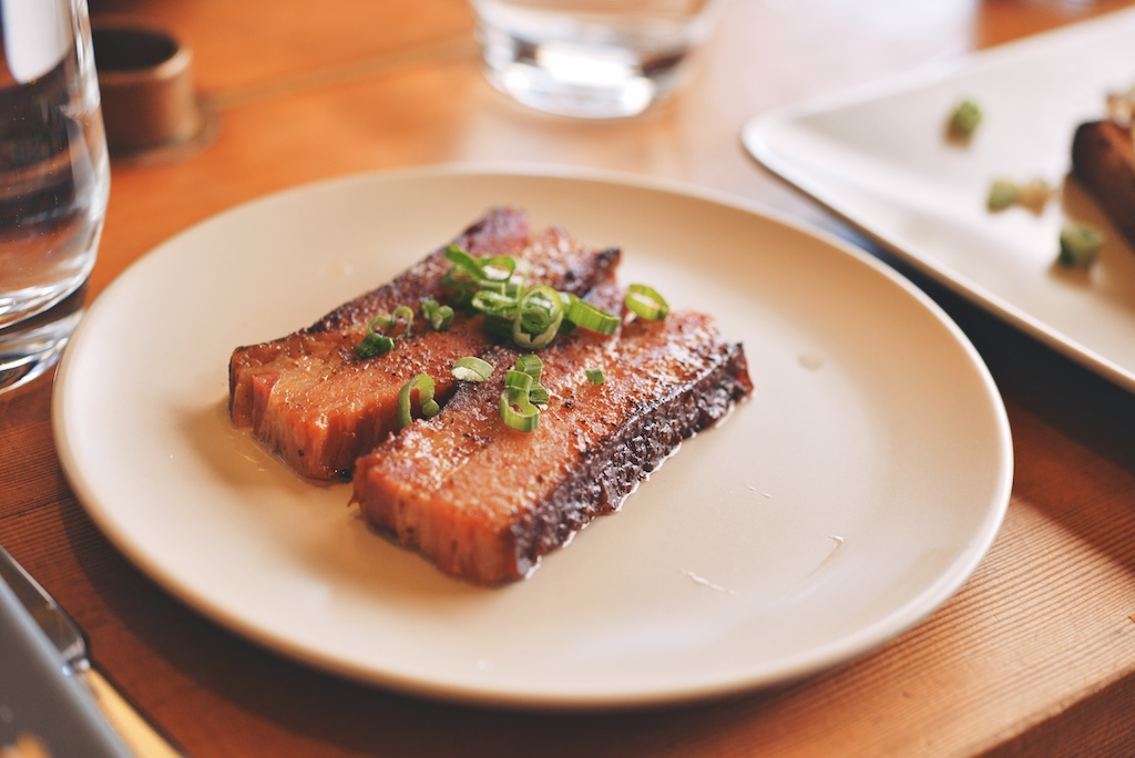 braised bacon at Superba