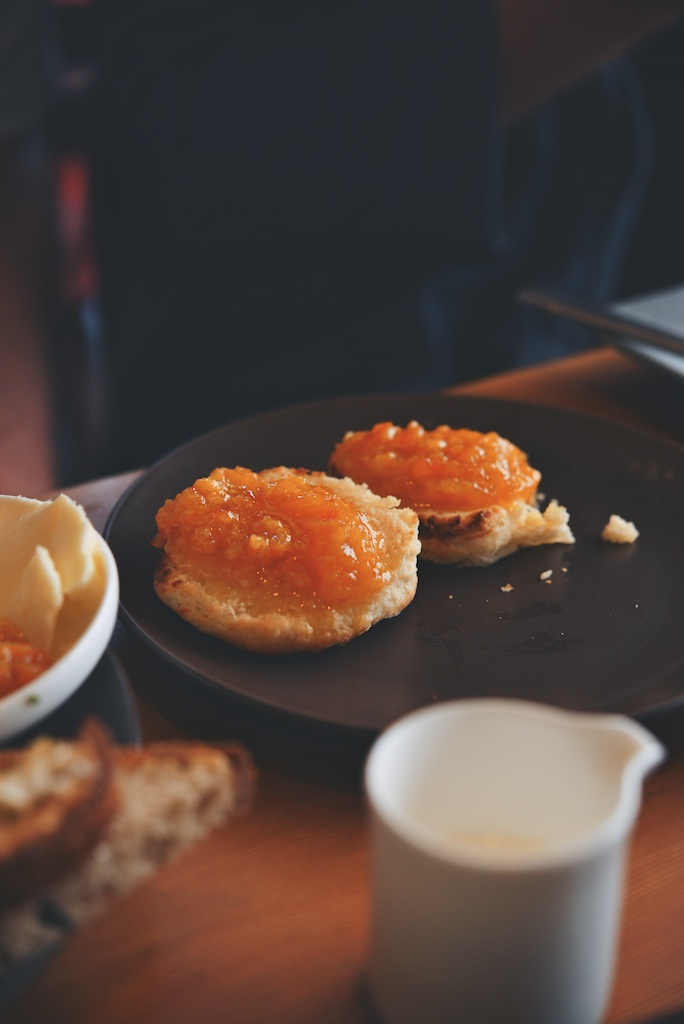 biscuits with kumquat jam at Superba