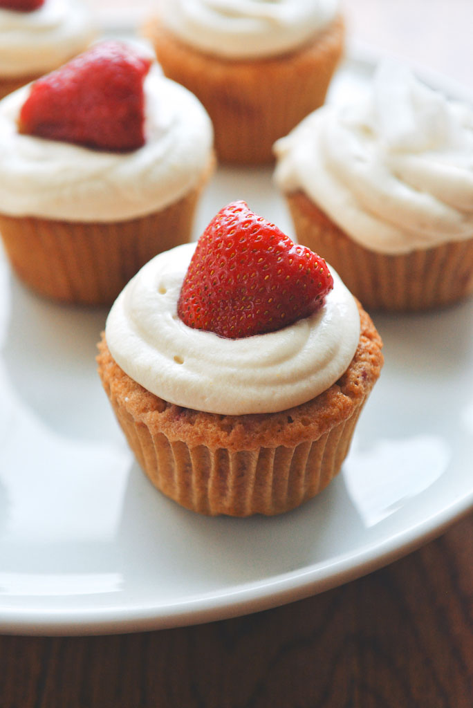 Strawberry-Coconut Cupcakes with Coconut-Cream Cheese Frosting