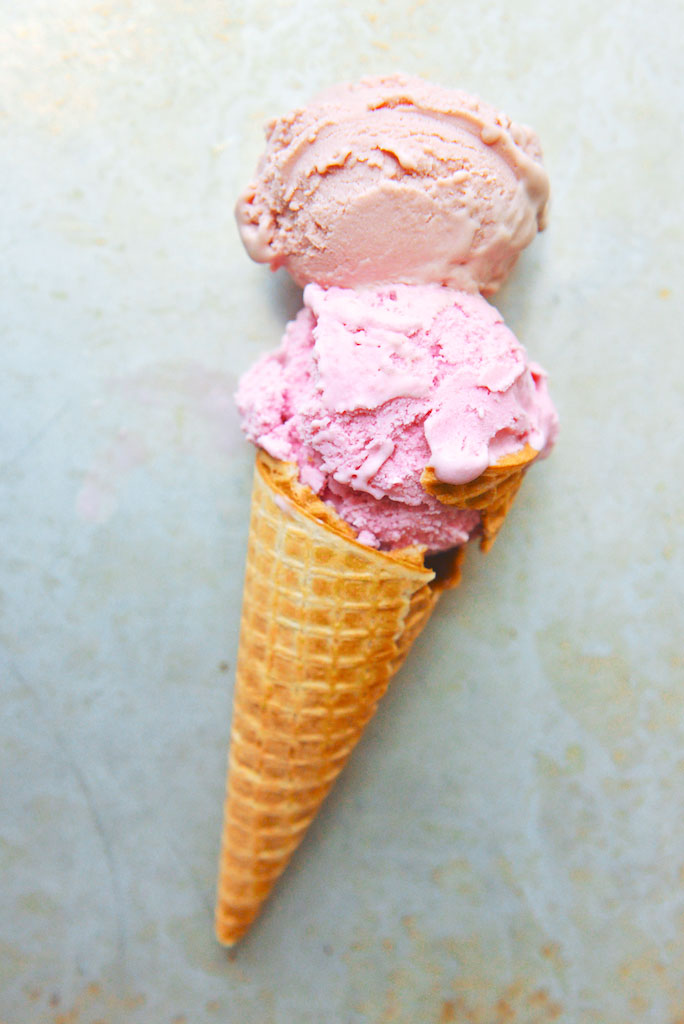 Raspberry Ice Cream, Two Ways