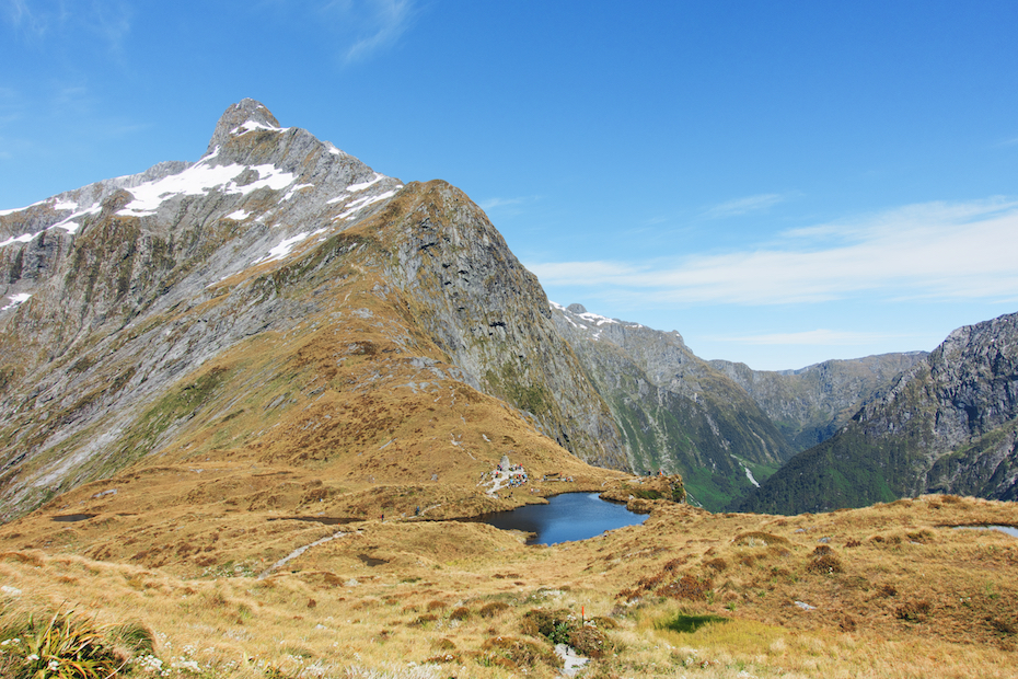 crossing the pass, Milford Track
