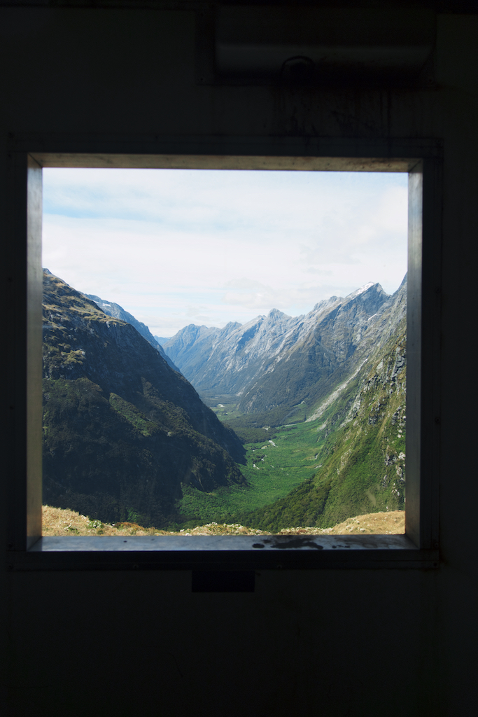 view from the bathroom, Milford Track