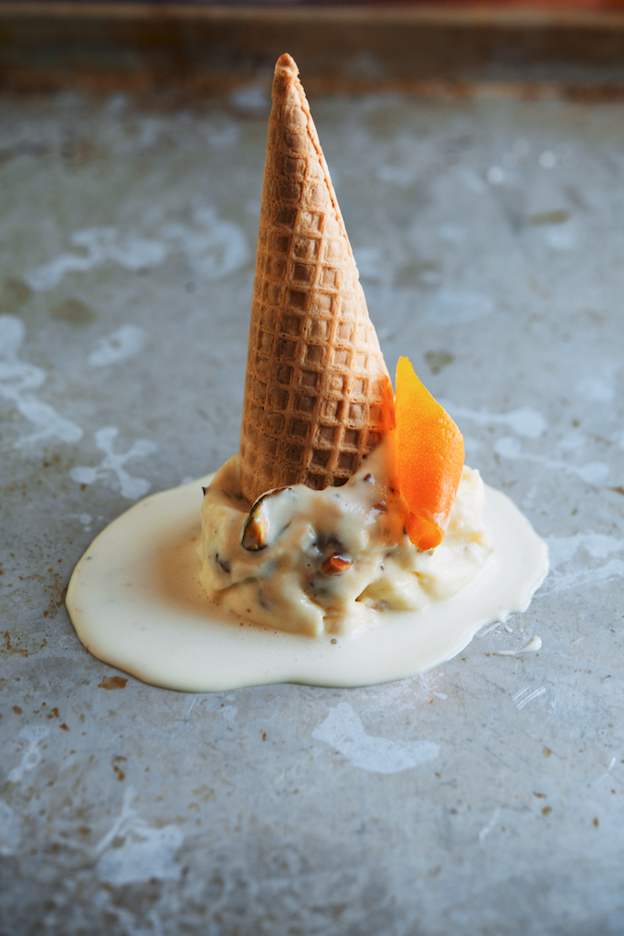 Cardamom-Orange + Brown Sugar-Pistachio Ice Cream