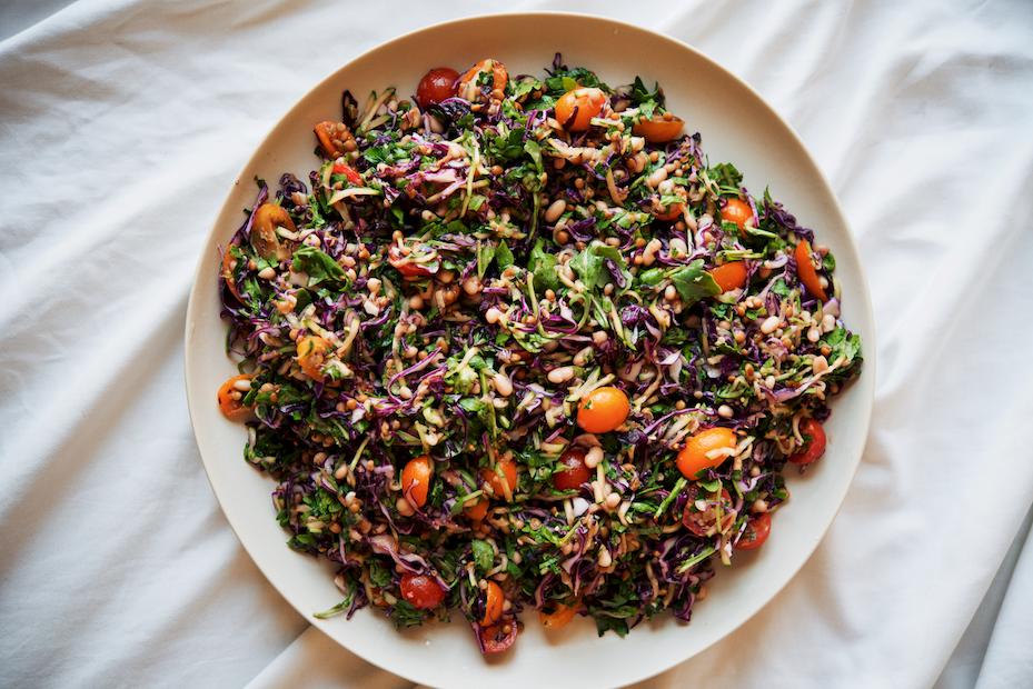 Edge of Summer White Bean + Lentil Salad