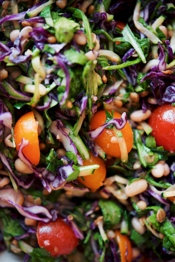 Edge of Summer White Bean + Lentil Salad